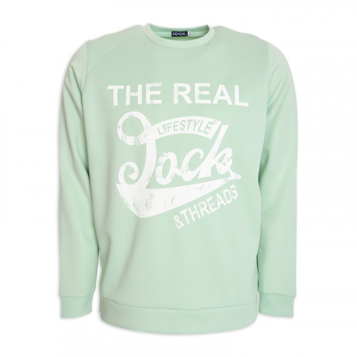 Mint Printed Sweat Shirt -