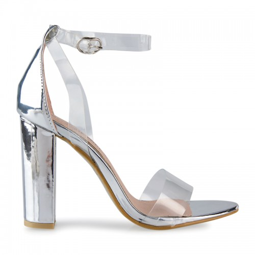 Silver Transparent Sandal -