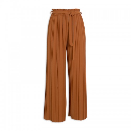 Ochre Pleated Pants -