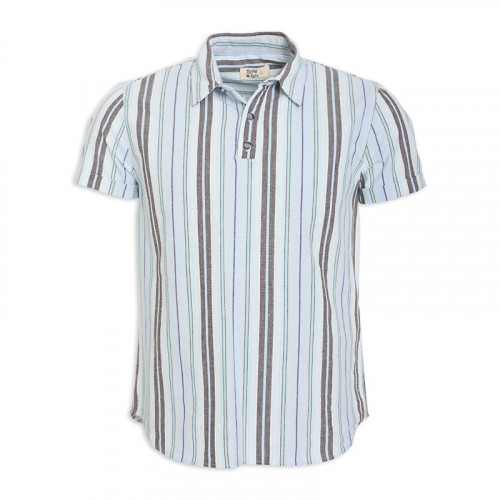 Blue Stripe Short Sleeve Shirt -