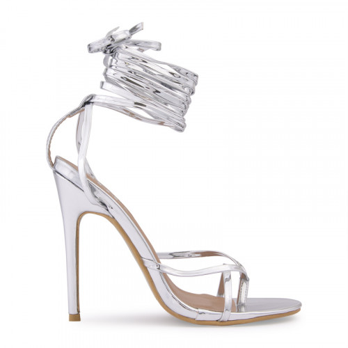 Silver Chrome Toe Post Sandal -