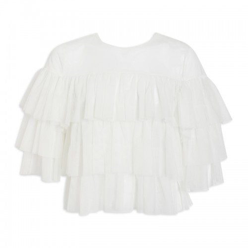 Ivory Tulle Top -