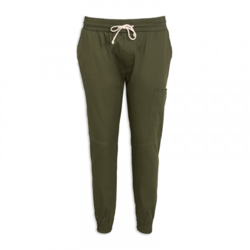 Olive Elasticated Cuff Trouser -
