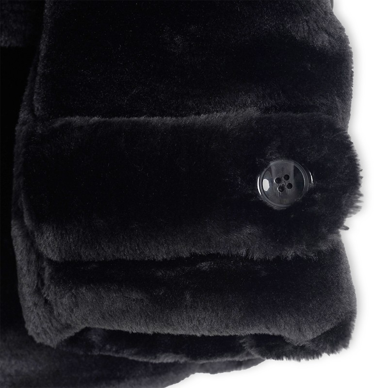 Black Faux Fur Coat -