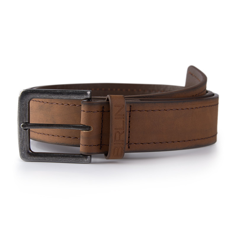 Brown Double Stitched Belt -