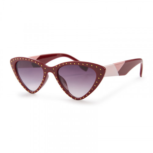 Red Stud Cateye Sunglasses -