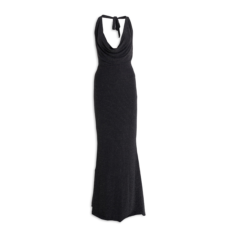 Black Cowl Dress -