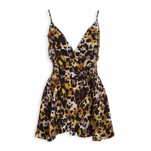 Animal Strappy Romper -