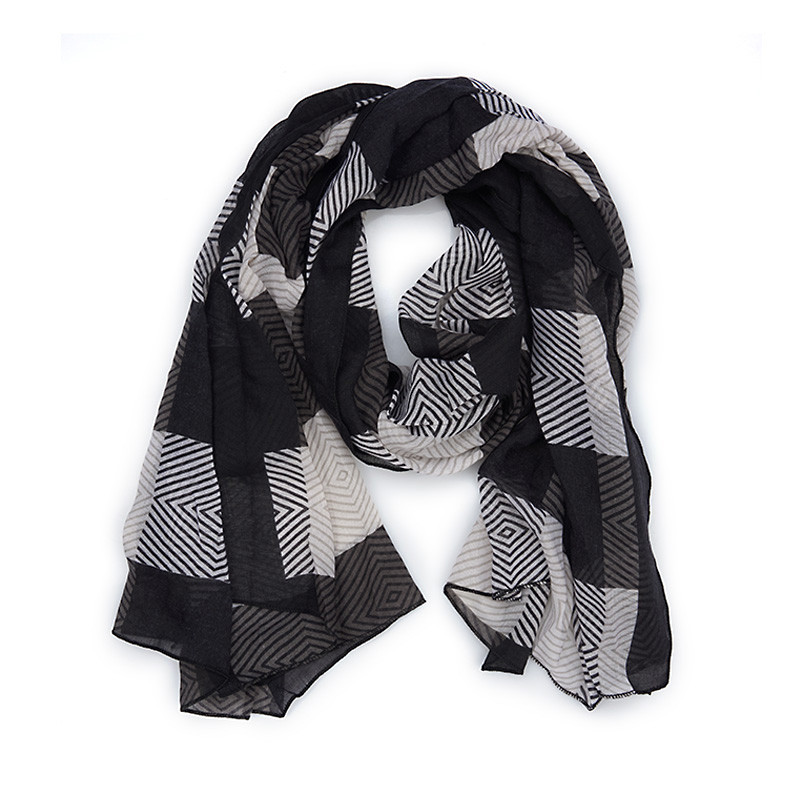 Black and White Scarf -