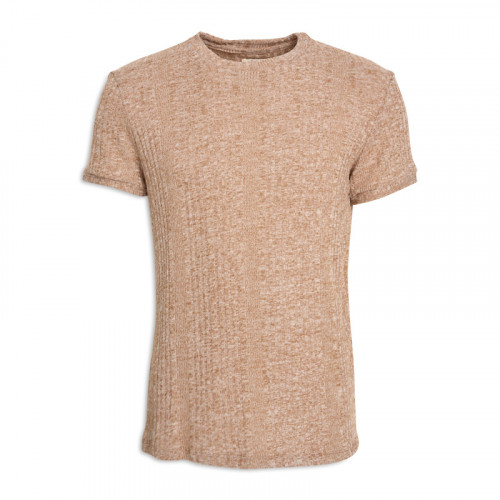 Brown Knit T - Shirt -
