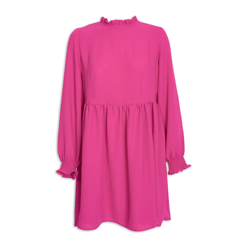 Pink Long Sleeve Rouge Dress -