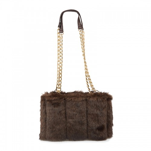 Brown Faux-Fur Bag -