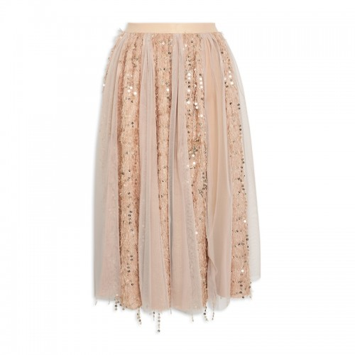 Gold Sequin Skirt -