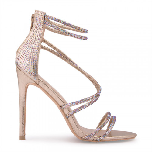 Gold Strappy Sandal -