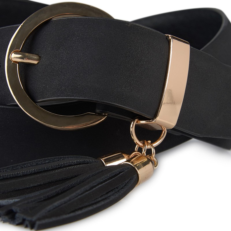 Black Tassel Belt -