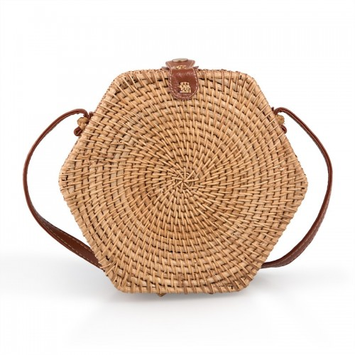 Hexagonal Wicker Bag -