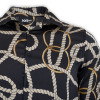 Brown Chain Print Long Sleeve Shirt -