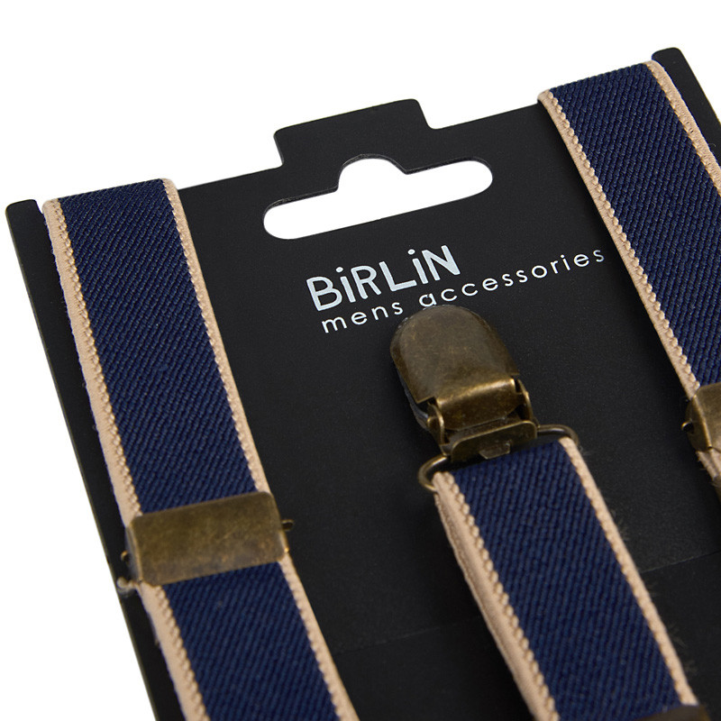 Navy Stripe Braces -