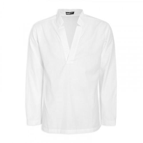 White Long Sleeve Shirt -