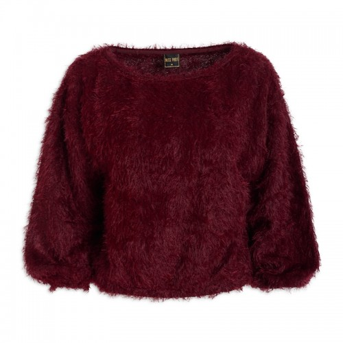 Burgundy Fringe Top -