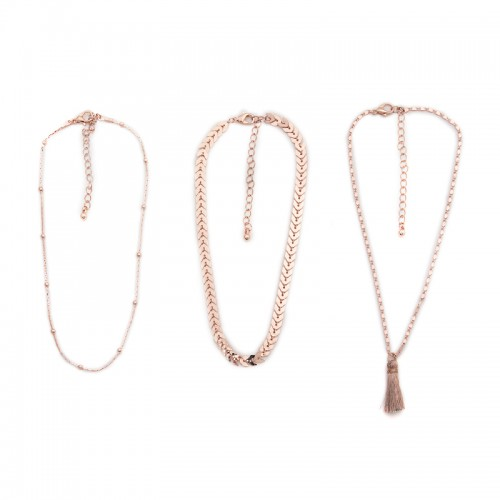 Rose Gold Tassel Choker -
