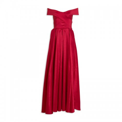 Red Taffeta Dress -
