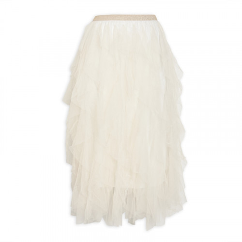 Neutral Ruffle Skirt -