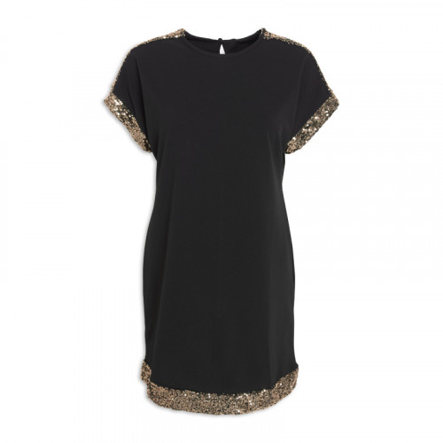 Black/Gold Sequin Tunic -