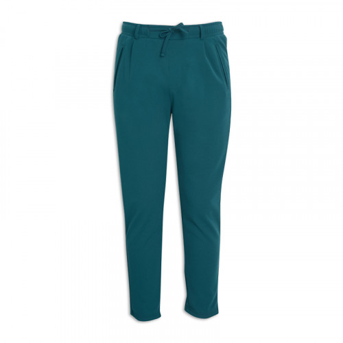 Teal Crepe Trackpants -