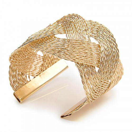 Gold Plaited Cuff -