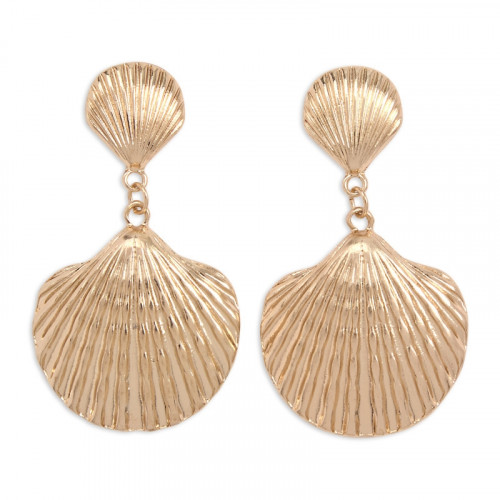 Soft Gold Shell Earrings -