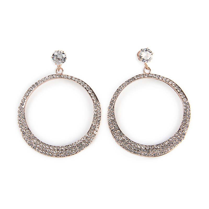 Diamante Hoop Earrings -