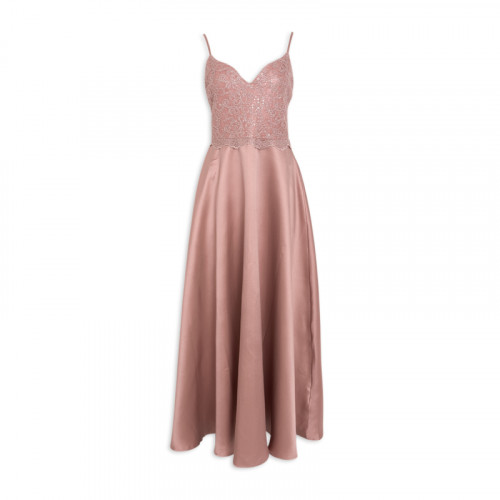 Dusty Satin Maxi Dress -