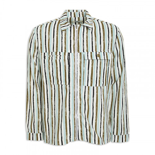 Linen Stripe Shacket -
