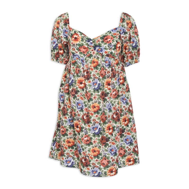 Floral Babydoll Dress -