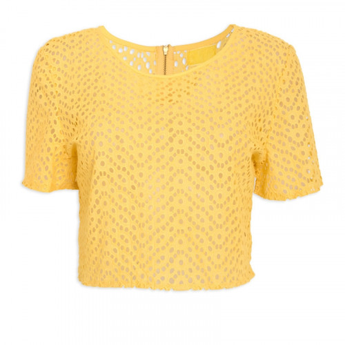 Yellow Cropped T-Shirt -