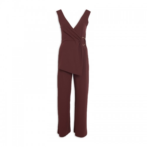 Burgandy Ring Jumpsuit -