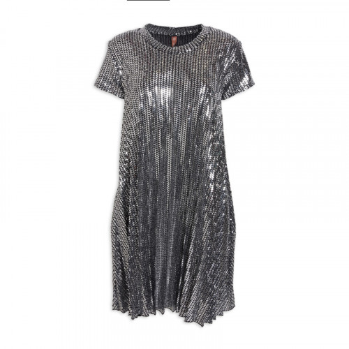 Silver/Black Sequin Dress -