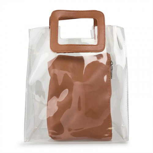 Transparent With Tan Inner Bag -