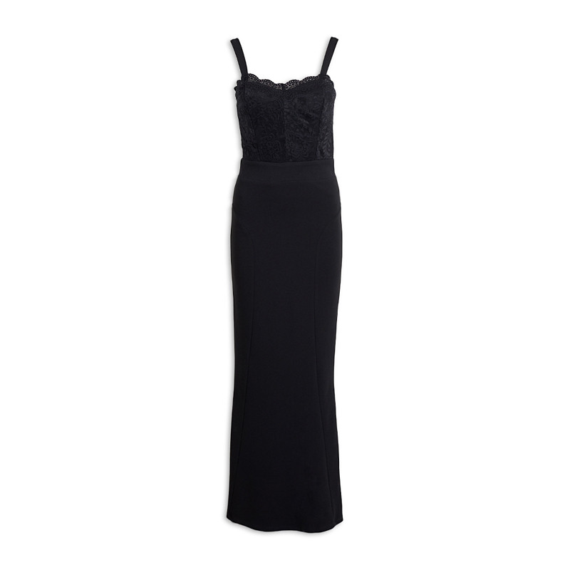 Black Mermaid Bridesmaids Dress -