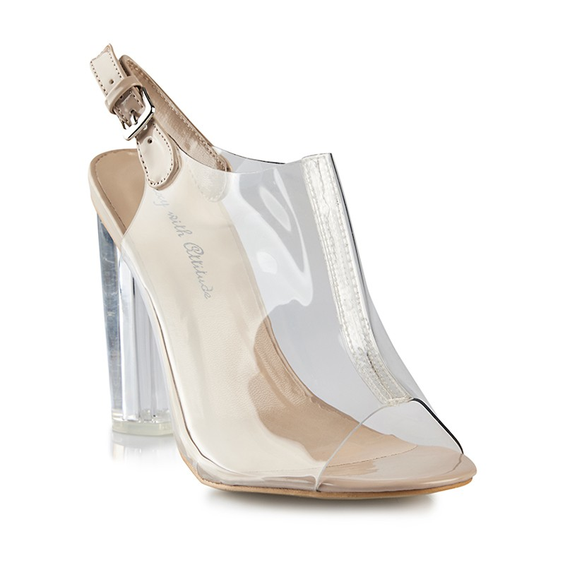 Nude Transparent Sandal -