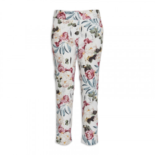 Ivory Floral Trouser -