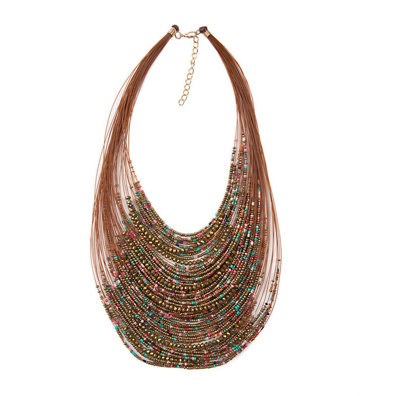 Gold Seedbead Necklace -