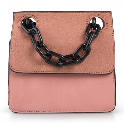 Pink Chunky Chain Bag -