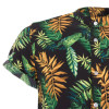 Black Palm Mandarin Short Sleeve Shirt -