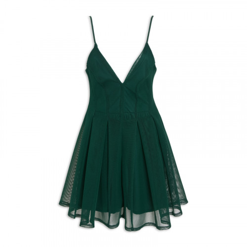 Emerald Inverted-Party Dress -