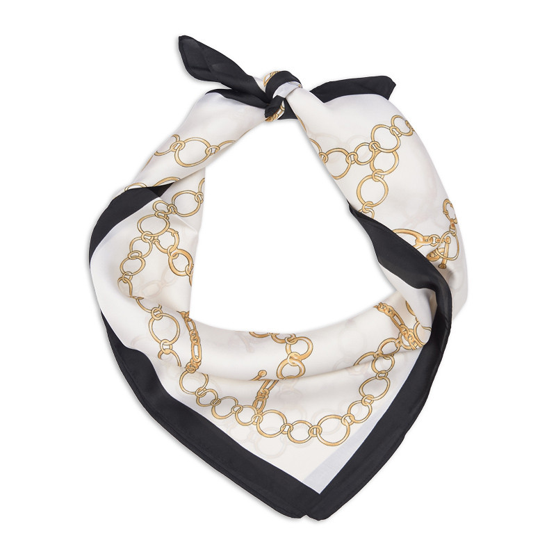 Classic Chain Silky Scarf -