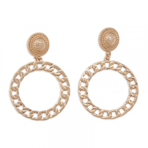 Gold Disk Earrings -