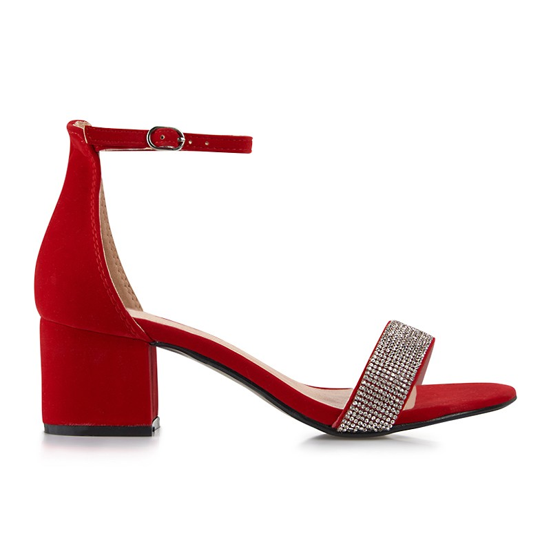 Red Suede Sandal -