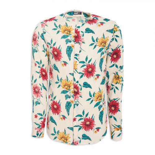 Floral Crew Neck Long Sleeve Shirt -